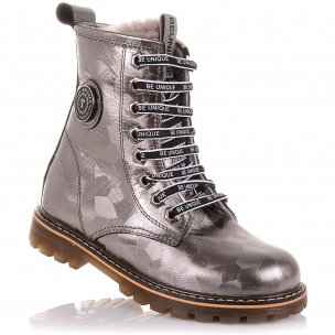 Дитяче взуття PERLINKA (Зимові черевики на шнурках і блискавки)