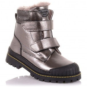 Детская обувь PERLINKA (Зимние ботинки из кожи с защитой на носке )