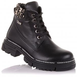Детская обувь PERLINKA (Демисезонные ботинки из кожи на шнурках и молнии)