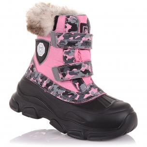 Детская обувь PERLINKA (Яркие зимние ботинки на двух липучках)