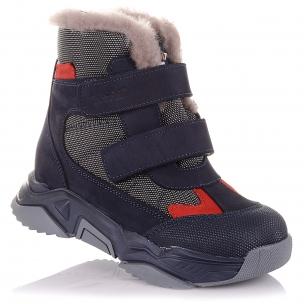 Детская обувь PERLINKA (Спортивные зимние ботинки из нубука и текстиля)