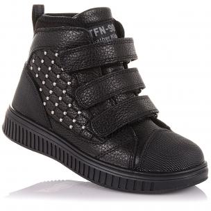 Детская обувь PERLINKA (Демисезонные ботинки из кожи на трех липучках )